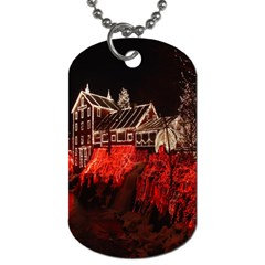 Clifton Mill Christmas Lights Dog Tag (One Side)