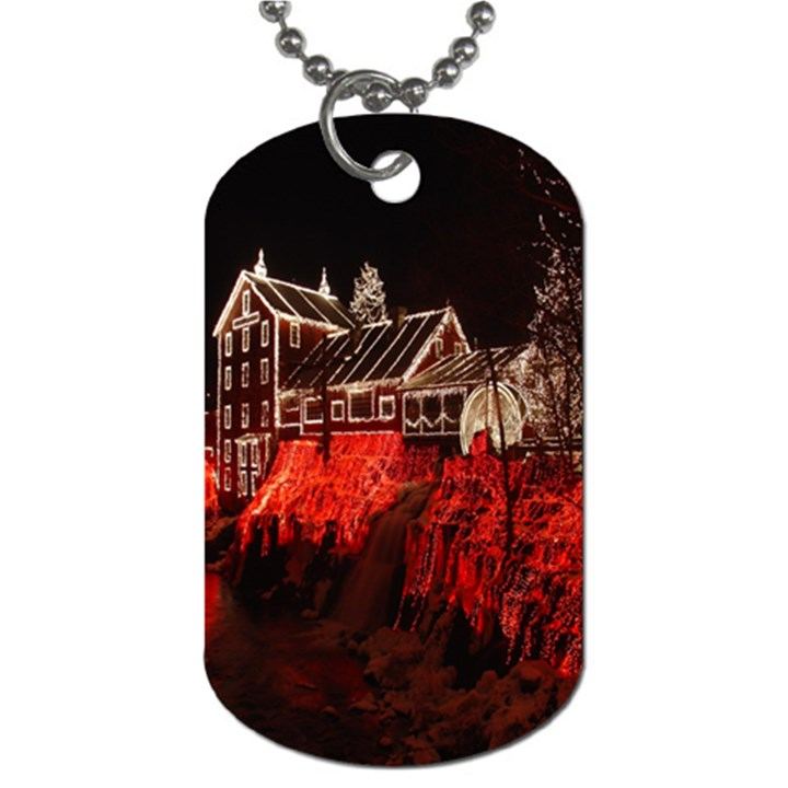 Clifton Mill Christmas Lights Dog Tag (Two Sides)