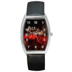 Clifton Mill Christmas Lights Barrel Style Metal Watch
