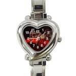 Clifton Mill Christmas Lights Heart Italian Charm Watch Front