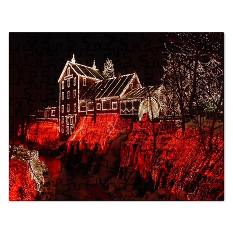 Clifton Mill Christmas Lights Rectangular Jigsaw Puzzl