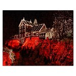 Clifton Mill Christmas Lights Rectangular Jigsaw Puzzl Front