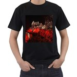 Clifton Mill Christmas Lights Men s T-Shirt (Black) (Two Sided) Front