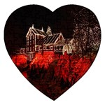 Clifton Mill Christmas Lights Jigsaw Puzzle (Heart) Front