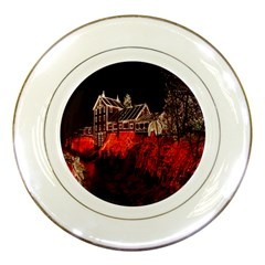 Clifton Mill Christmas Lights Porcelain Plates