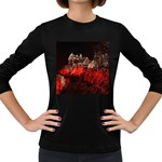Clifton Mill Christmas Lights Women s Long Sleeve Dark T-Shirts Front