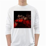 Clifton Mill Christmas Lights White Long Sleeve T-Shirts Front