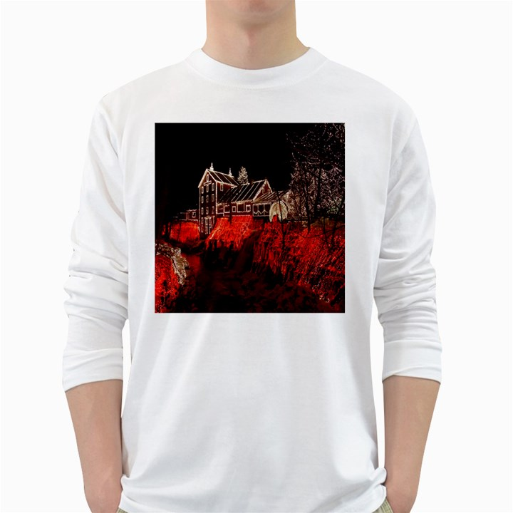 Clifton Mill Christmas Lights White Long Sleeve T-Shirts