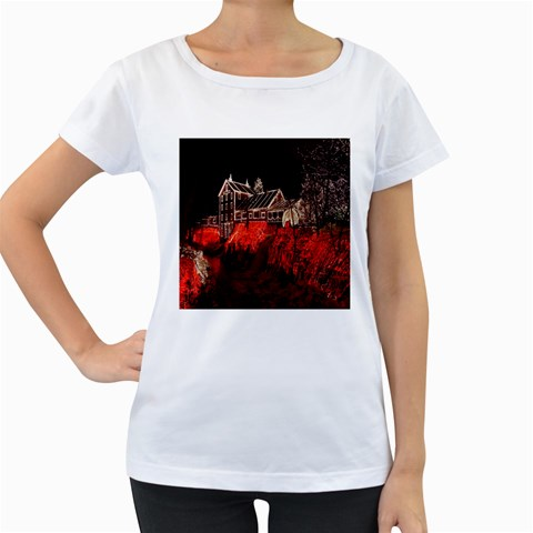 Clifton Mill Christmas Lights Women s Loose-Fit T-Shirt (White)