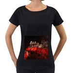 Clifton Mill Christmas Lights Women s Loose-Fit T-Shirt (Black) Front