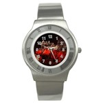 Clifton Mill Christmas Lights Stainless Steel Watch Front