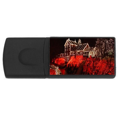 Clifton Mill Christmas Lights USB Flash Drive Rectangular (4 GB)