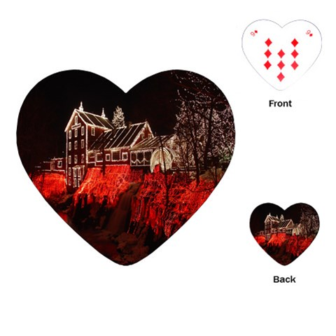 Clifton Mill Christmas Lights Playing Cards (Heart)