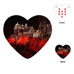 Clifton Mill Christmas Lights Playing Cards (Heart)  Front