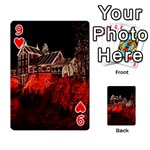 Clifton Mill Christmas Lights Playing Cards 54 Designs  Front - Heart9