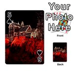 Clifton Mill Christmas Lights Playing Cards 54 Designs  Front - Spade5