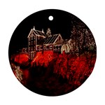 Clifton Mill Christmas Lights Round Ornament (Two Sides)  Back