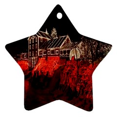 Clifton Mill Christmas Lights Star Ornament (Two Sides)