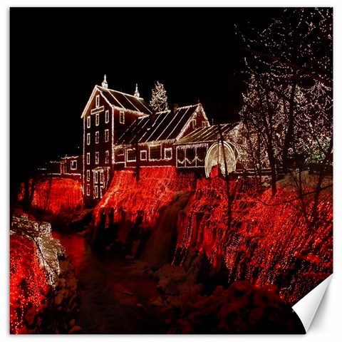 Clifton Mill Christmas Lights Canvas 12  x 12