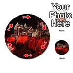 Clifton Mill Christmas Lights Playing Cards 54 (Round)  Front - Heart7