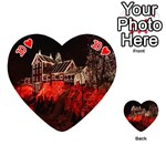 Clifton Mill Christmas Lights Playing Cards 54 (Heart)  Front - Heart10