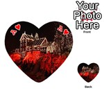 Clifton Mill Christmas Lights Playing Cards 54 (Heart)  Front - HeartA