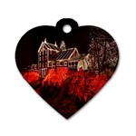 Clifton Mill Christmas Lights Dog Tag Heart (Two Sides) Back