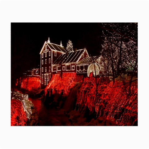 Clifton Mill Christmas Lights Small Glasses Cloth (2-Side)