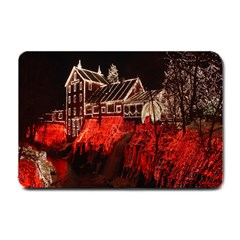 Clifton Mill Christmas Lights Small Doormat