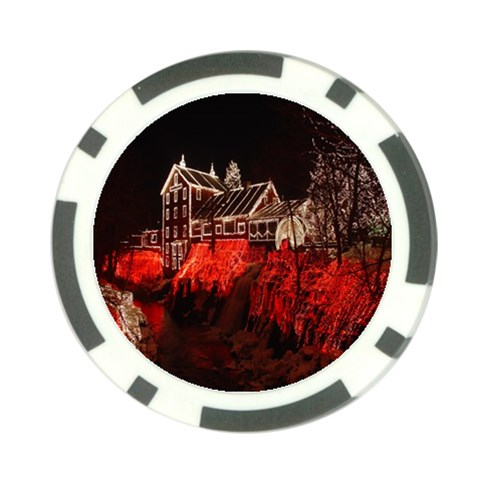 Clifton Mill Christmas Lights Poker Chip Card Guards