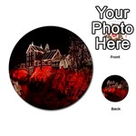 Clifton Mill Christmas Lights Multi-purpose Cards (Round)  Back 2