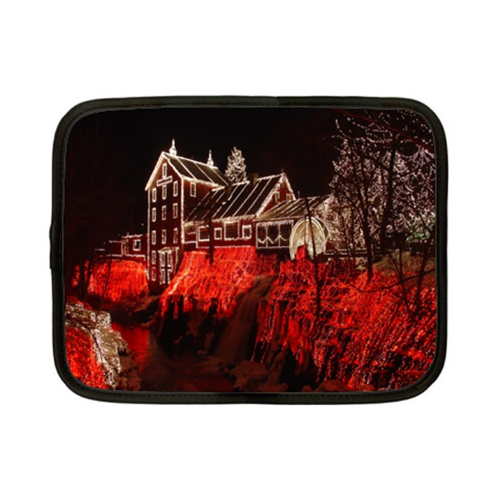 Clifton Mill Christmas Lights Netbook Case (Small)