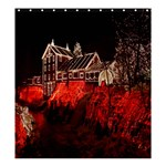 Clifton Mill Christmas Lights Shower Curtain 66  x 72  (Large)  66 x72 Curtain