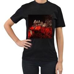 Clifton Mill Christmas Lights Women s T-Shirt (Black)