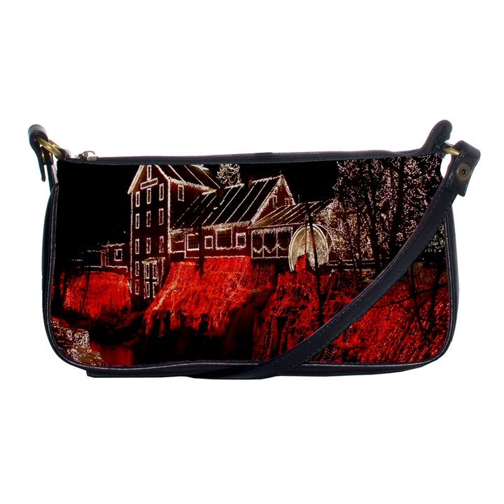 Clifton Mill Christmas Lights Shoulder Clutch Bags