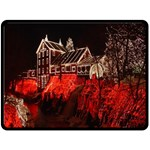 Clifton Mill Christmas Lights Fleece Blanket (Large)  80 x60 Blanket Front