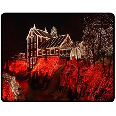 Clifton Mill Christmas Lights Fleece Blanket (Medium)