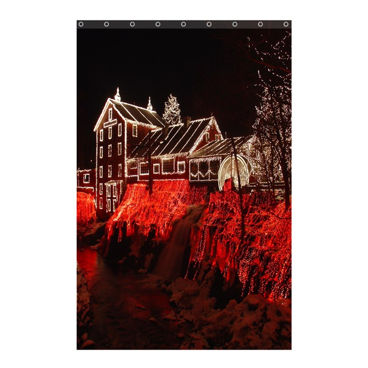 Clifton Mill Christmas Lights Shower Curtain 48  x 72  (Small)