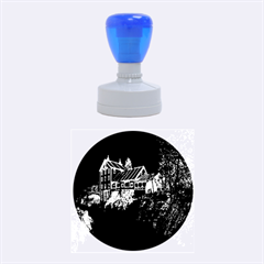 Clifton Mill Christmas Lights Rubber Round Stamps (Medium)