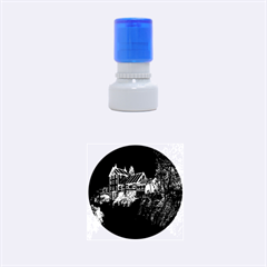 Clifton Mill Christmas Lights Rubber Round Stamps (Small)