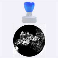Clifton Mill Christmas Lights Rubber Round Stamps (Large)