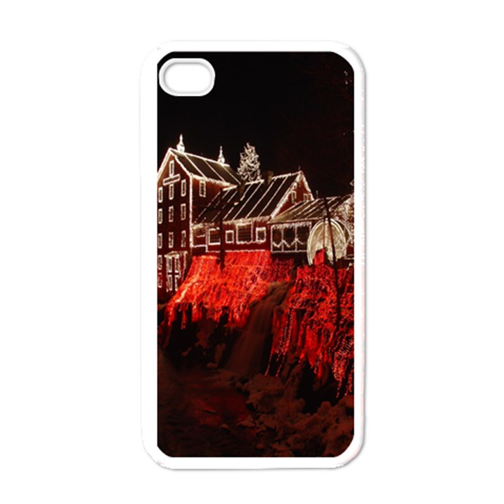 Clifton Mill Christmas Lights Apple iPhone 4 Case (White)