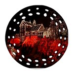 Clifton Mill Christmas Lights Ornament (Round Filigree)  Front