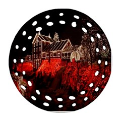 Clifton Mill Christmas Lights Round Filigree Ornament (2Side)