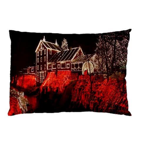 Clifton Mill Christmas Lights Pillow Case (Two Sides)