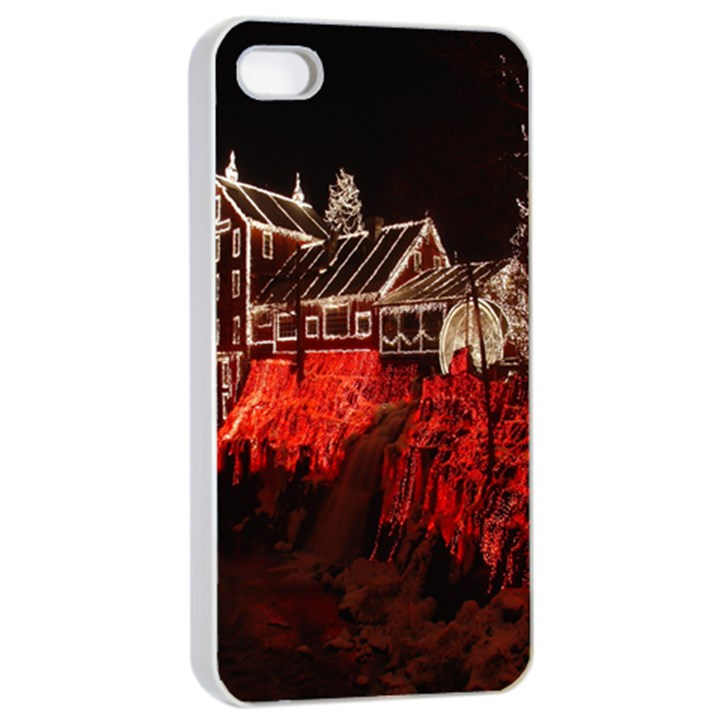 Clifton Mill Christmas Lights Apple iPhone 4/4s Seamless Case (White)