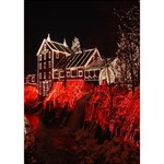 Clifton Mill Christmas Lights Heart 3D Greeting Card (7x5) Inside