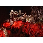 Clifton Mill Christmas Lights Heart 3D Greeting Card (7x5) Back