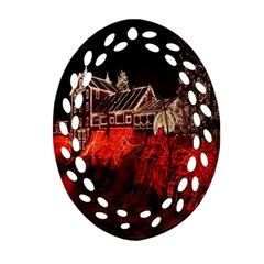 Clifton Mill Christmas Lights Ornament (Oval Filigree)