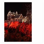 Clifton Mill Christmas Lights Small Garden Flag (Two Sides) Back